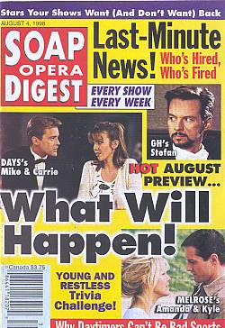 Soap Opera Digest - August 4, 1998