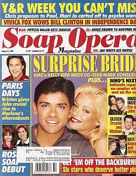 Soap Opera Magazine August 6, 1996
