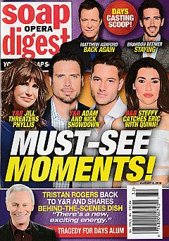 August 8, 2016 issue of Soap Opera Digest magazine