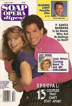 Soap Opera Digest August 8, 1989