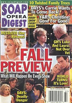 Soap Opera Digest Sept. 11, 2001