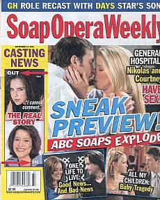Soap Opera Weekly September 13, 2005