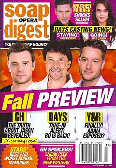 Soap Opera Digest Sept. 14, 2015