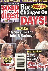 Soap Opera Digest Sept. 16, 2003