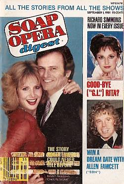 September 1, 1981 issue of Soap Opera Digest