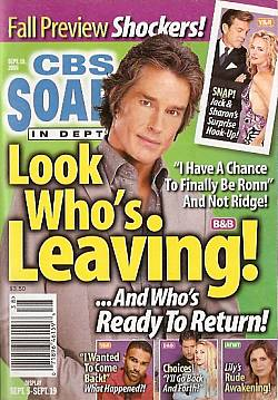CBS Soaps In Depth September 19, 2006