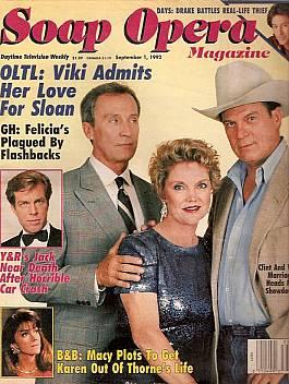 Soap Opera Magazine Sept. 1, 1992