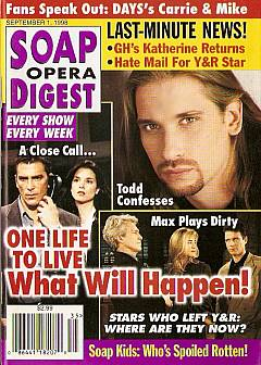 Soap Opera Digest - September 1, 1998