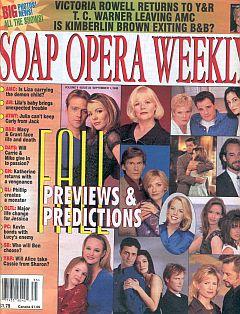 Soap Opera Weekly September 1, 1998