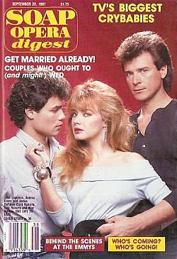 Soap Opera Digest September 22, 1987