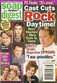 Soap Opera Digest Sept. 23, 2003