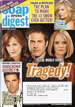 Soap Opera Digest September 23, 2008