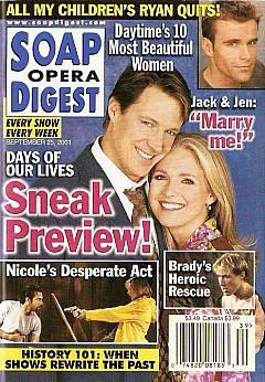 Soap Opera Digest Sept. 25, 2001