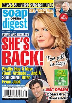 Soap Opera Digest September 28, 2010