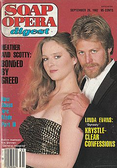 Soap Opera Digest - September 28, 1982 General Hospital Cover