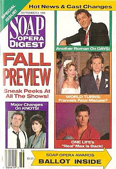 Soap Opera Digest September 3, 1991