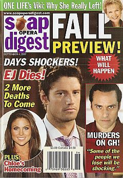 Soap Opera Digest Sept. 4, 2007