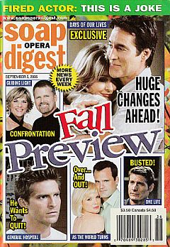 Soap Opera Digest Sept. 5, 2006