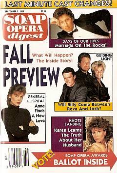 Soap Opera Digest September 5, 1989