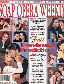 Soap Opera Weekly September 5, 1995