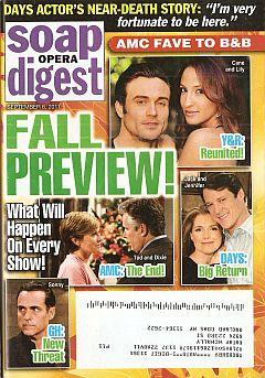 Soap Opera Digest September 6, 2011