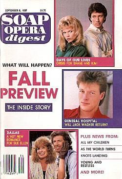 Soap Opera Digest September 8, 1987
