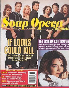 Soap Opera Magazine September 8, 1998