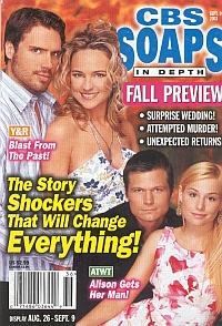 CBS Soaps In Depth September 9, 2003
