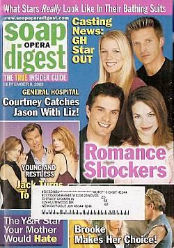 Soap Opera Digest Sept. 9, 2003