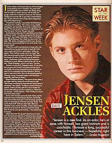 Jensen Ackles played the role of Eric Brady on Days Of Our Lives