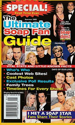 Summer 2002 issue of The Ultimate Soap Fan Guide magazine