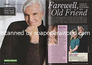 Remembering David Canary (David played the character of Adam Chandler on All My Children)