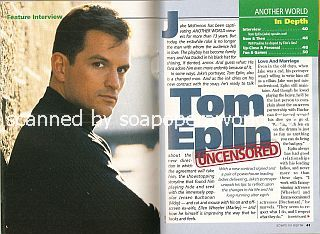Interview with  Tom Eplin (Jake on the NBC soap opera, Another World)