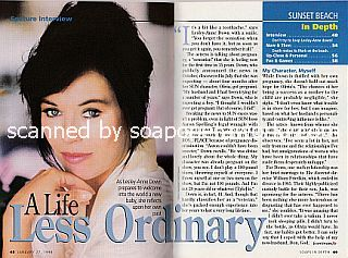 Interview with Lesley-Anne Down (Olivia on the soap opera, 
