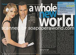 General Hospital Cover Story featuring Megan Ward and Maurice Benard