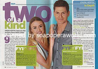Interview with Hayley Erin and Robert Palmer Watkins (Kiki and Dillon on General Hospital)