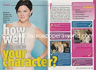 How Well Do You Know Your Character? with Heather Tom of The Bold & The Beautiful