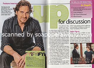 Interview with Thorsten Kaye (Ridge Forrester on The Bold and The Beautiful)