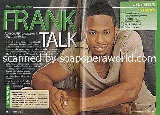 Interview with Cornelius Smith Jr. (Frankie on All My Children)