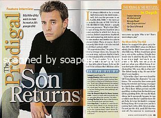 Interview with Billy Miller (Billy on The Young and The Restless)