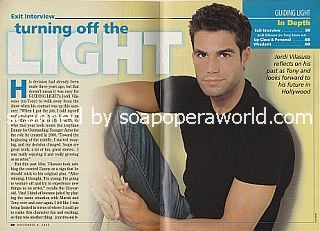 Exit Interview with Jordi Vilasuso (Tony on the CBS soap opera, Guiding Light)