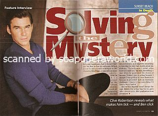 Interview with Clive Robertson (Ben Evans on the NBC soap opera, Sunset Beach)