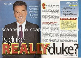 Interview with Ian Buchanan (Duke Lavery on General Hospital)