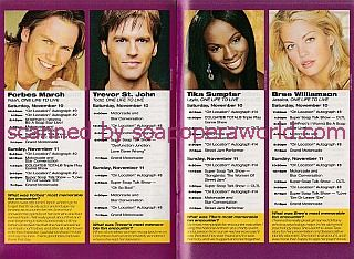 ABC's Super Soap Weekend Schedule Of Events