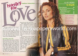 Interview with Alicia Minshew (Kendall on the soap opera, All My Children)