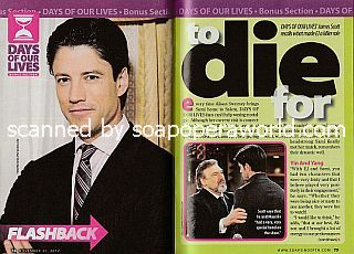 Interview with James Scott (ex-EJ DiMera on Days Of Our Lives)