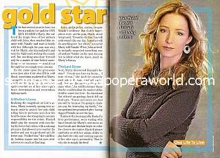 Gold Star Performer:  Susan Haskell (Marty Saybrooke on One Life To Live)