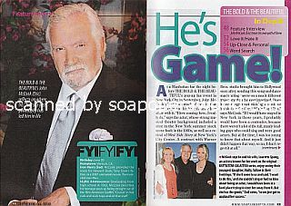 Interview with John  McCook (John plays the role of Eric Forrester on The Bold and The Beautiful)
