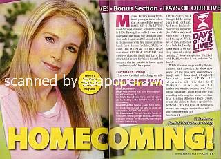 Interview with Melissa Reeves (Jennifer on Days Of Our Lives)