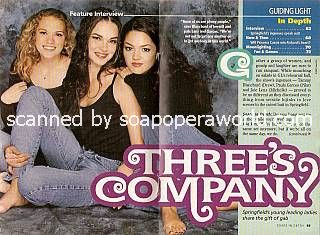 Joie Lenz, Tammy Blanchard & Paula Garces of Guiding Light